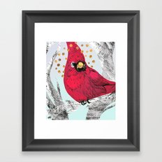 Cardinal Thoughts Framed Art Print