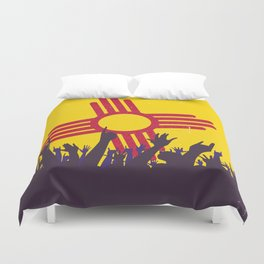 New Mexico State Flag with Audience Duvet Cover