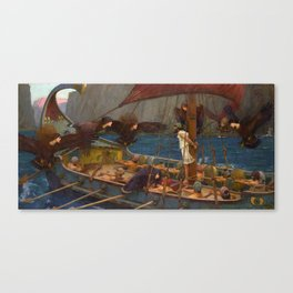 John William Waterhouse - Ulysses and the Sirens [c.1891] Canvas Print