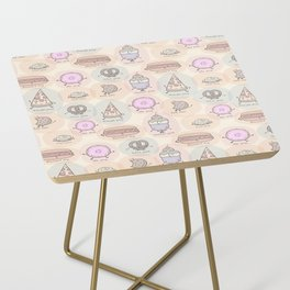 Junk Food as Yoga Poses Side Table
