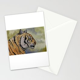 Tiger in Profile Stationery Cards