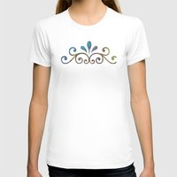 damask T-shirts featuring Seashell & Damask by Lachlan Willis