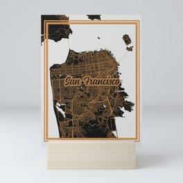 San Fransisco   California   United States - Minimalist City Map Mini Art Print