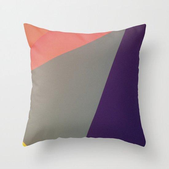 abstract blocking Throw Pillow
