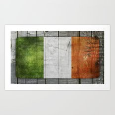 Flag of Ireland Art Print