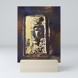 Temple of the Bayon at Angkor Wat ruins- Siem Reap, Cambodia Mini Art Print
