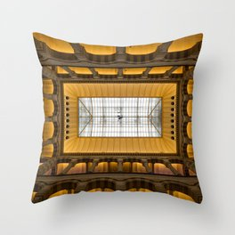Amsterdam Shopping Center Lobby Architecture Throw Pillow