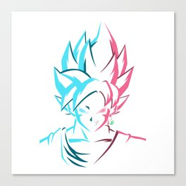 Goku X Black Canvas Print
