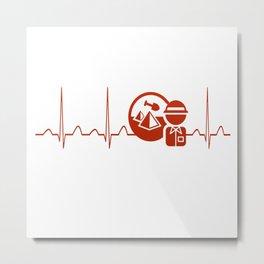 Archaeologist Heartbeat Metal Print
