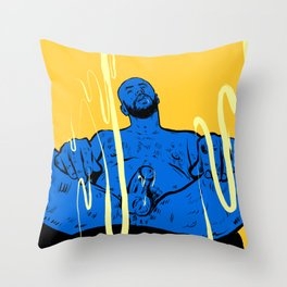 Come here! Man sitting  Throw Pillow