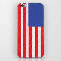 matty healy iPhone & iPod Skins featuring Zentangle American Flag by Gabrielle Healy by BHHS Graphic Design