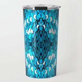 girly glam turquoise blue sequins mermaid scales Travel Mug