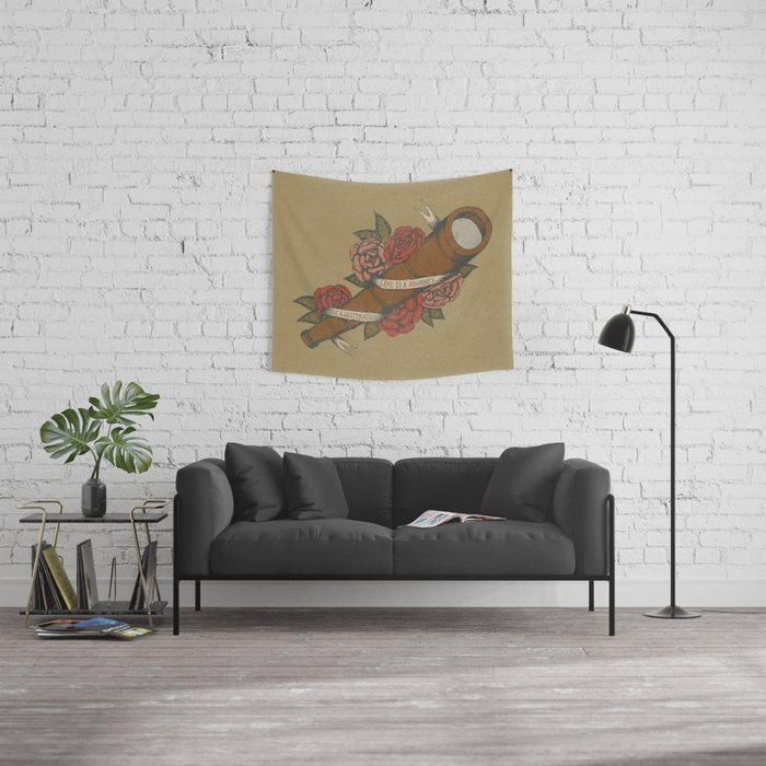Life is a Journey Wall Tapestry