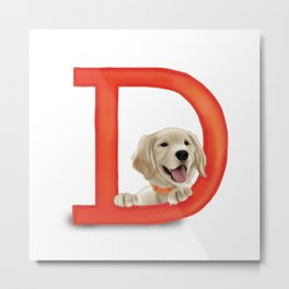 D is for Dog Metal Print