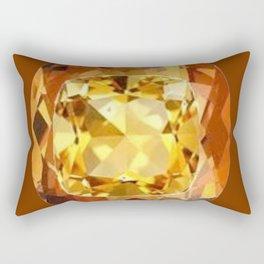 HONEY YELLOW  CITRINES SEPTEMBER  BIRTHSTONES ART Rectangular Pillow