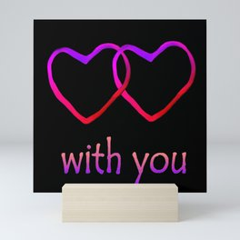 With You Pink Mini Art Print