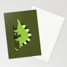 Crude oil comes from dinosaurs Stationery Cards