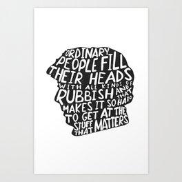 Sherlock on People Art Print