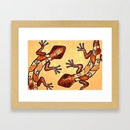 Meet the Geckos Framed Art Print