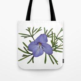 Viola Pedata, Birds-foot Violet #society6 #spring Tote Bag