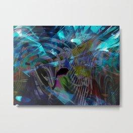 """""""Aqua Boogie"""" Metal Print"""