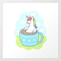 Unicorn Coffee Art Print