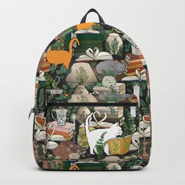 Cozy Cat Cafe and Bookstore Backpack