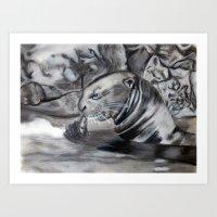 otter Art Prints featuring Otter by Nick Ricciutti