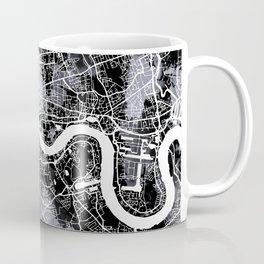 LONDON MAP, black and white Coffee Mug