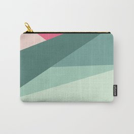 Modern abstract pastel pink green geometrical colorblock Carry-All Pouch