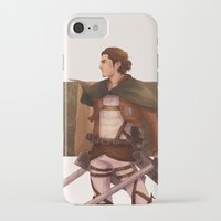 attack on titan iPhone & iPod Cases featuring Haikyuu!! Attack on Titan Crossover: Captain Asahi by JBadgr