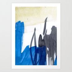 abstract blue  Art Print