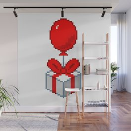 Animal Crossing Balloon Present Wall Mural