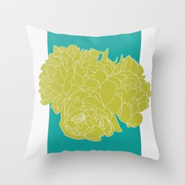 Floral Greens Throw Pillow