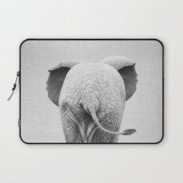 Baby Elephant Tail - Black & White Laptop Sleeve