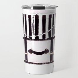 Watercolour Fashion Illustration Titled Bon Voyage Travel Mug
