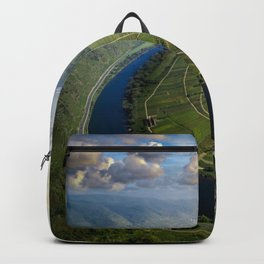 Incredible Mosel River Bend in Germany Backpack