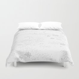 land of 15 towns and a cemetary Duvet Cover