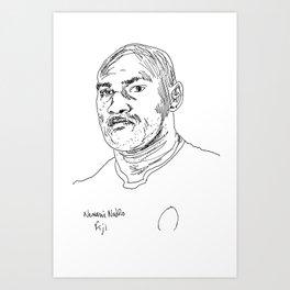 Rugby World Cup 2015 Portraits : Fiji - Nemani Nadolo (2) Art Print