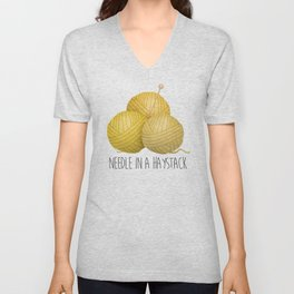 Needle In A Haystack Unisex V-Neck