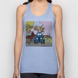 Blue truck and friends Unisex Tank Top