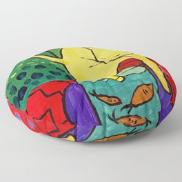 Cat with Red Fish- Henri Matisse Floor Pillow