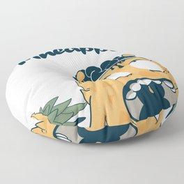 Silence of the pineapple Floor Pillow