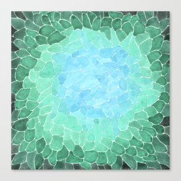 Abstract Sea Glass Canvas Print