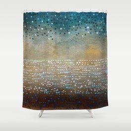 Landscape Dots - Turquoise Shower Curtain