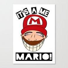 Psycho Mario Canvas Print