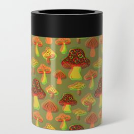 Mushroom Print in 3D Can Cooler