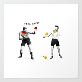 Floral fight - humor Art Print