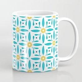 Valencian flower retro tile pattern design_01 Coffee Mug