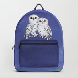 Two lovely snowy owls Backpack